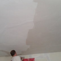 Living Room Ceiling During